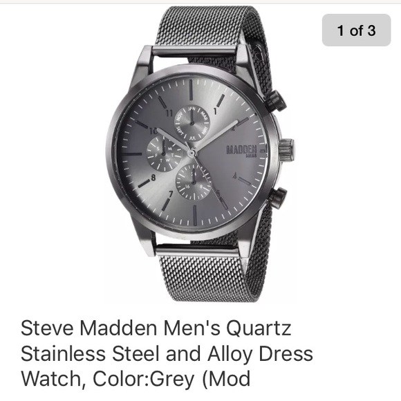 a9b90dc12d0 Steve Madden Men s Quartz Stainless Steel Watch. M 5b86aab40945e0f93f8b688f